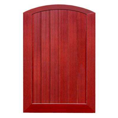 Pro Series 4 ft. W x 6 ft. H Cherry Vinyl Anaheim Privacy Arched Top Fence Gate