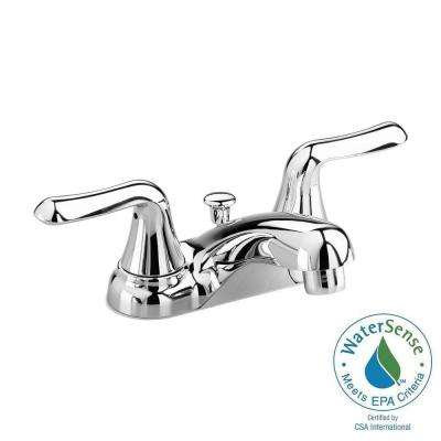 Colony Soft 4 in. Centerset 2-Handle Bathroom Faucet in Polished Chrome with Speed Connect Pop-Up Drain