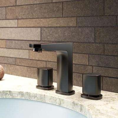 8 in. Widespread 2-Handle Bathroom Faucet in Antique Bronze