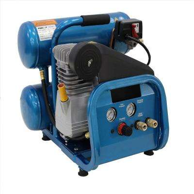 4 Gal. 2 HP Electric Direct Drive Single Stage Twin Stack Hand Carry Air Compressor