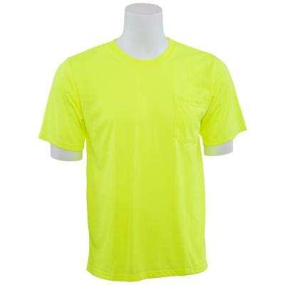 9601 Non-ANSI Short Sleeve Hi Viz Lime Unisexx Poly Jersey T-Shirt