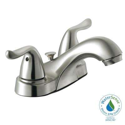 Constructor 4 in. Centerset 2-Handle Bathroom Faucet in Brushed Nickel