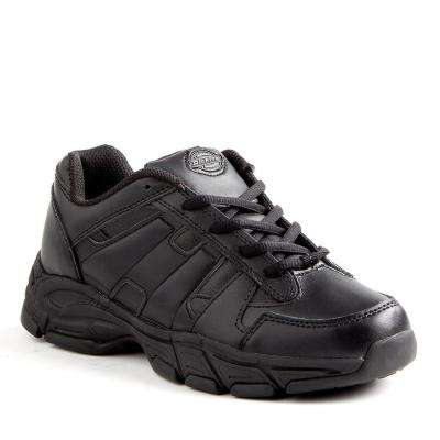 Athletic Lace Men Black Slip Resistant Safety Work Shoe