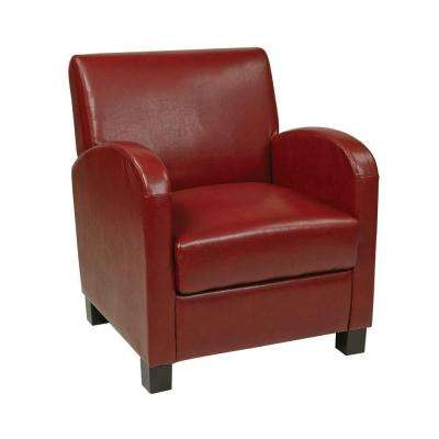 Eco Leather Club Chair in Red