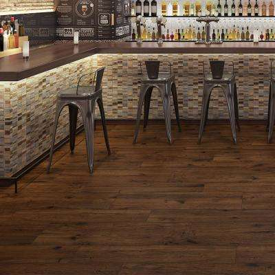 Rathwood Bosberg Espresso 7.5 in. x 47 in. Porcelain Floor Tile (14.99 sq. ft. / carton)