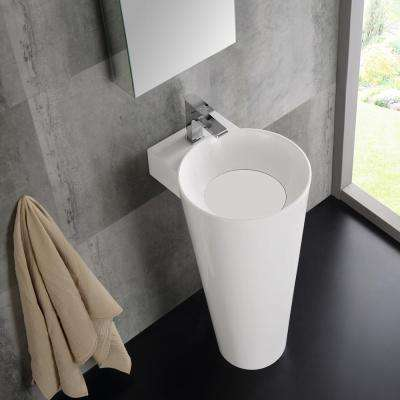 Messina 16 in. Vanity in White with Acrylic Vanity Top in White with White Basin and Mirrored Medicine Cabinet