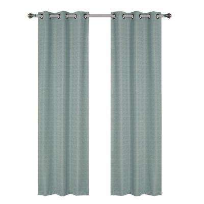 Aqua - Curtains & Drapes - Blinds & Window Treatments - The Home Depot