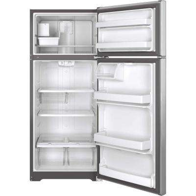 17.5 cu. ft. Top Freezer Refrigerator in Stainless Steel
