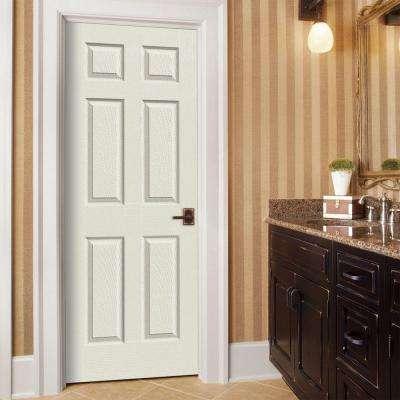 30 in. x 80 in. Colonist Desert Sand Painted Left-Hand Textured Molded Composite MDF Single Prehung Interior Door