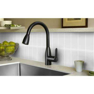 Metro Snow White Subway 3 in. x 6 in. Glossy Wall Tile (8-Pieces/Pack)