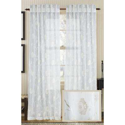 Ivory REGAL Cotton Org Rod Pocket Curtain - 50 in.W x 108 in. L