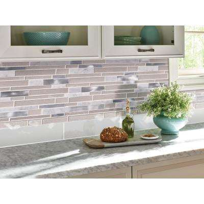 White Bevelled 4 in. x 12 in. Glazed Ceramic Wall Tile (13.33 sq. ft. / case)