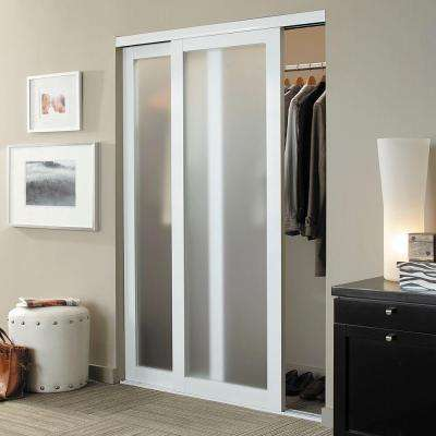 Eclipse 1 Lite Anodized Aluminum Duratuf Tempered Mystique Safety Glass Interior Sliding Door