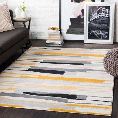 Astvin Mustard 7 ft. 10 in. x 10 ft. 3 in. Abstract Area Rug