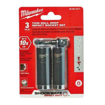 Shockwave Impact Duty Socket Set (3-Pack)