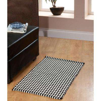 Portland Houndstooth Black 2 ft. x 5 ft. Indoor Runner Rug