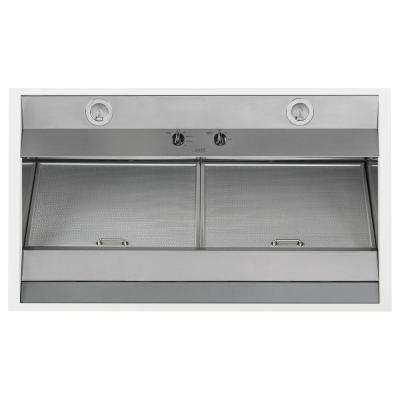 36 in. Convertible Wall Mount Range Hood with Light in Matte White, Fingerprint Resistant