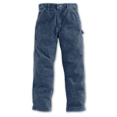 Men's Darkstone Cotton Straight Leg Denim Bottoms