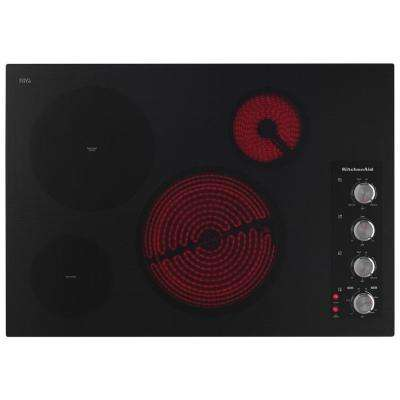 Architect Series II 30 in. Radiant Ceramic Glass Electric Cooktop in Black with 4 Elements Including EvenHeat Elements