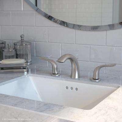 Kohra 8 in. Widespread 2-Handle Bathroom Faucet in Brushed Nickel