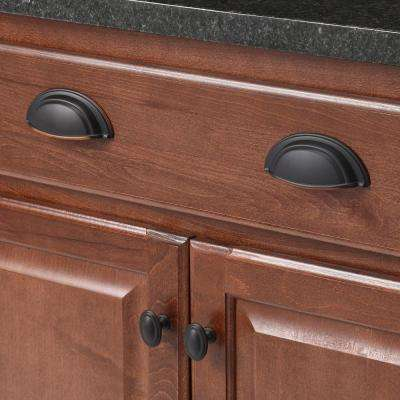 Symm Etry 3 in. Center-to-Center Oil Rubbed Bronze Cup Pull