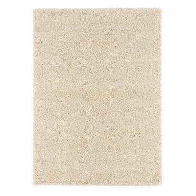 Contemporary Solid Beige 6 ft. 7 in. x 9 ft. 3 in. Shag Area Rug