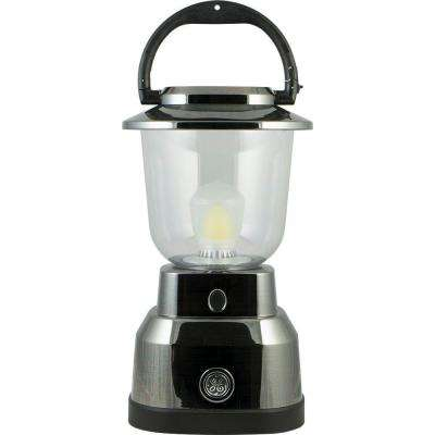 Enbrighten Battery Operated LED Nickel Plated Lantern
