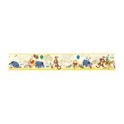 9 in. H Pooh and Friends Toile Border