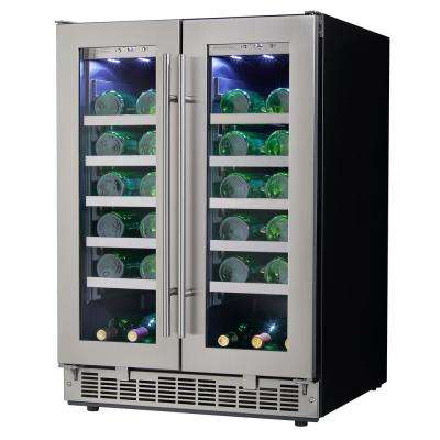 42-Bottle Built-in French Door Wine Cooler