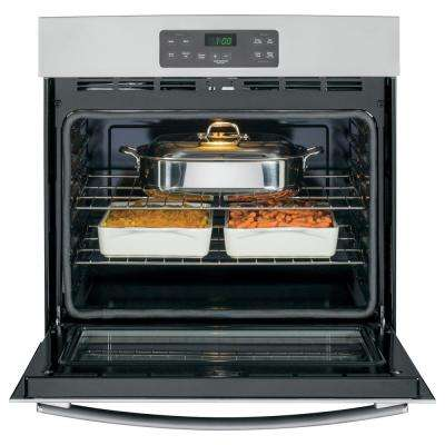 30 in. Single Electric Wall Oven Standard Cleaning with Steam in Stainless Steel