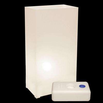 Electric Luminaria Kit in White with LumaBases (10-Count)