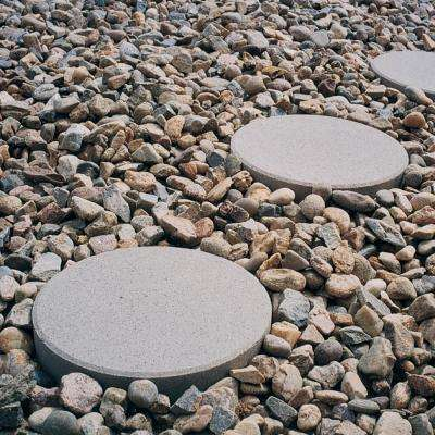 12 in. x 12 in. x 1.77 in. Pewter Round Concrete Step Stone (168-Pieces/129 sq. ft./Pallet)