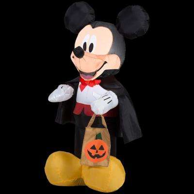 22.05 in. W x 20.08 in. D x 42.13 in. H Inflatable Mickey Vampire with Tote