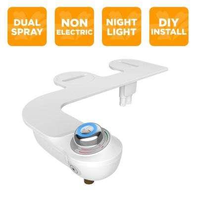 Slim Glow Non-Electric Bidet Attachment System in White