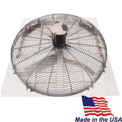 8860 CFM Silver Electric Powered Gable Mount Electric Attic Fan