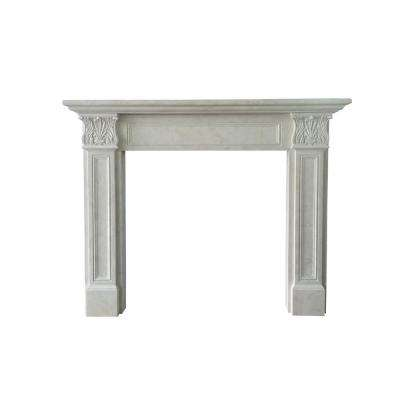 Springfield 66 in. x 52 in. Egyptian Beige Marble Mantel