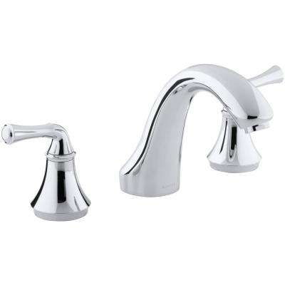 Forte 8 in. 2-Handle Bath-Mount/Deck-Mount Bathroom Faucet Trim Kit in Polished Chrome (Valve Not Included)