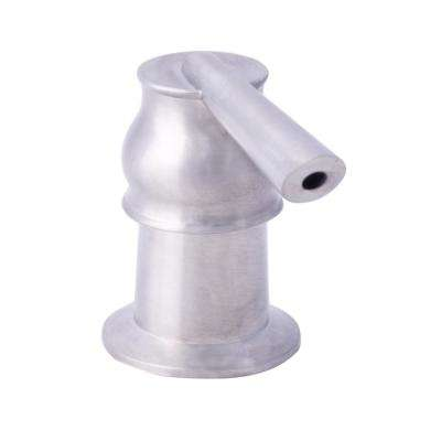 Straight Soap and Lotion Dispenser for Kitchen or Bath in Brushed Nickel