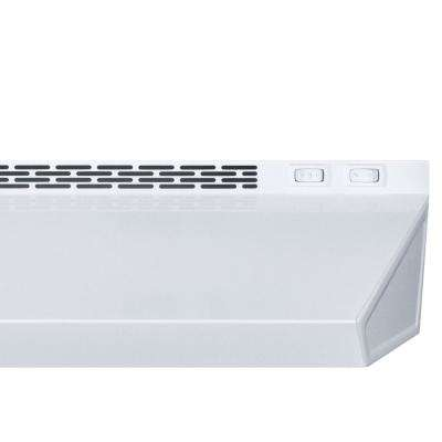 18 in. Non-Vented Under Cabinet Range Hood in White