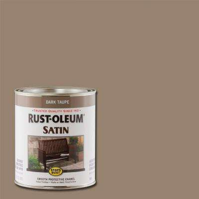 1 qt. Dark Taupe Satin Protective Enamel Paint (Case of 2)