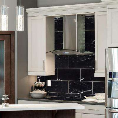 Nero Marquina Black 6 in. x 12 in. Polished Marble Floor and Wall Tile (1 sq. ft./ pack)