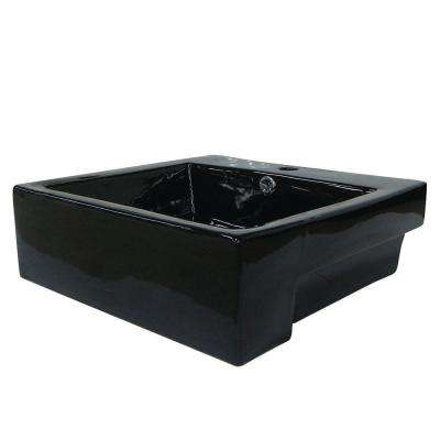 4-3/8 in. Console Sink Basin in Black
