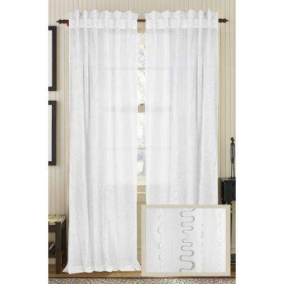 Ivory LUSTRE Cotton Org Rod Pocket Curtain - 50 in.W x 108 in. L
