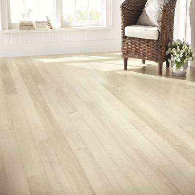Hand Scraped Wire Brushed Strand Woven White 1/2 in. T x 5-1/8 in. W x 72 in. L Solid Bamboo Flooring
