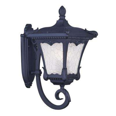 Providence Wall-Mount 3-Light Outdoor Black Incandescent Lantern