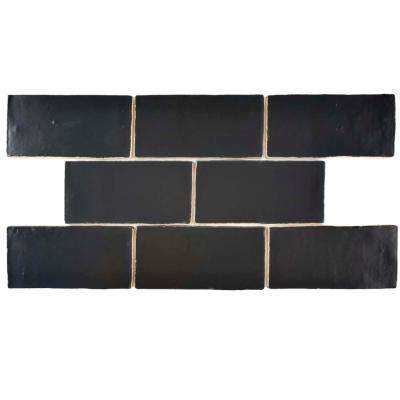 Chester Matte Nero 3 in. x 6 in. Ceramic Wall Tile (1 sq. ft. / pack)
