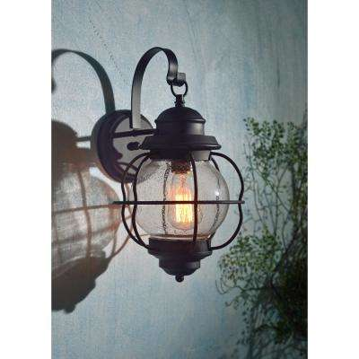 Hatteras 1-Light Black Medium Wall Lantern