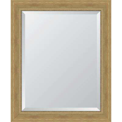 "28 in. x 34 in. Framed 3"" Natural English Pine Resin Frame Mirror"