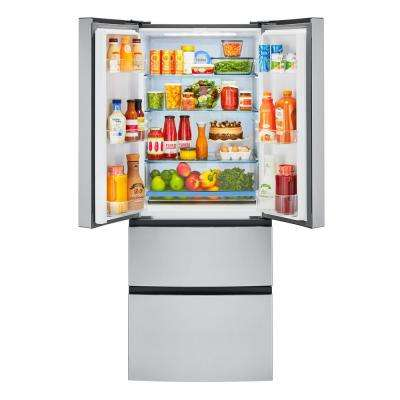 28 in. W 15.0 cu. ft. French Door Refrigerator in Stainless Steel