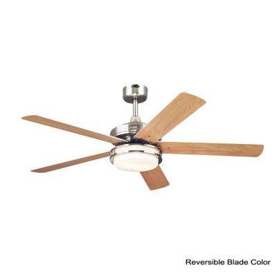 Castle 52 in. Indoor Brushed Nickel Finish Ceiling Fan